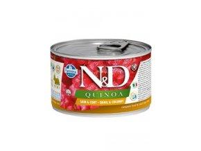 N&D DOG QUINOA Adult Quail & Coconut Mini 140g