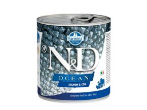N&D DOG OCEAN Adult Salmon & Codfish 285g