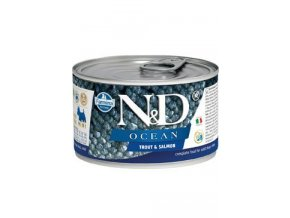 N&D DOG OCEAN Adult Trout & Salmon Mini 140g