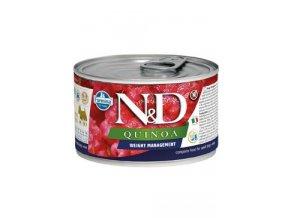 N&D DOG QUINOA Ad. Weight Mnmg Lamb&Brocolli Mini 140g