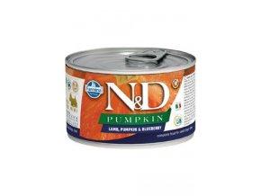 N&D DOG PUMPKIN Adult Lamb & Blueberry Mini 140g