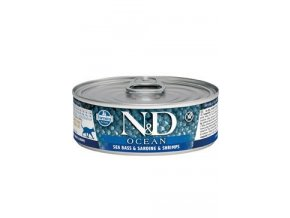 N&D CAT OCEAN Adult Sea Bass & Sardine & Shrimps 80g