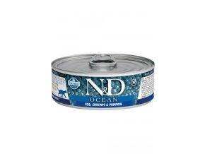 N&D CAT OCEAN Adult Tuna&Codfish&Shrimps&Pumpkin 80g