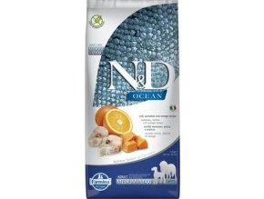 N&D OCEAN DOG Adult M/L Codfish&Pumpkin & Orange 12kg