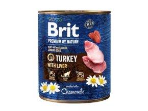 Brit Premium Dog by Nature  konzerva Turkey & Liver 800g
