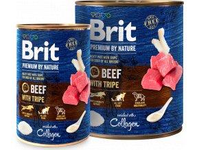 Brit Premium Dog by Nature  konzerva Beef & Tripes 800g