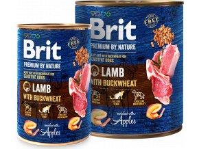 Brit Premium Dog by Nature  konzerva Lamb & Buckwheat 800g