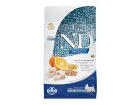 N&D OCEAN DOG LG Adult Mini Codfish & Orange 800g