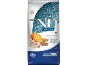 N&D OCEAN CAT LG Adult Codfish & Orange 10kg