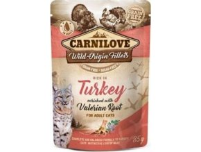 Carnilove Cat Pouch Turkey Enriched With Valerian 85g