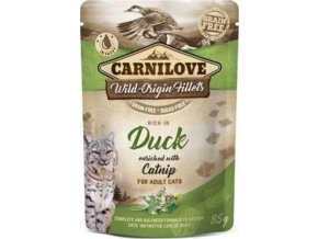 Carnilove Cat Pouch Duck Enriched With Catnip 85g