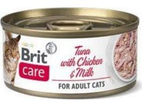 Brit Care Cat konz Fillets Chicken&Milk 70g