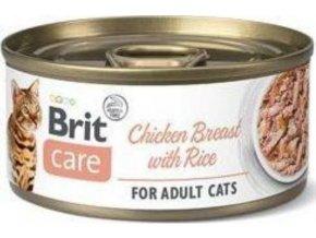 Brit Care Cat konz Fillets Breast&Rice 70g