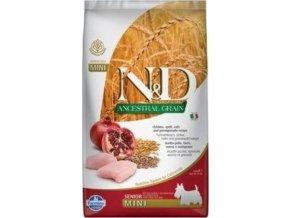 N&D LG DOG Senior Mini Chicken & Pomegranate 2,5kg