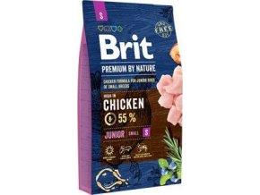 Brit Premium Dog by Nature Junior S 8kg - výprodej