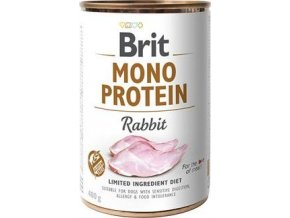 Brit Dog konz Mono  Protein Rabbit 400g - výprodej