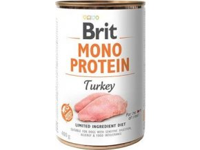 Brit Dog konz Mono  Protein Turkey 400g - výprodej