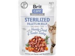 Brit Care Cat Fillets in Jelly Steril Duck&Turkey 85g