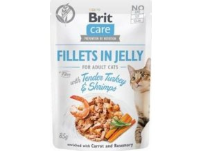 Brit Care Cat Fillets in Jelly with Turkey&Shrimps 85g