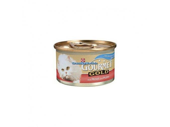 Gourmet Gold Hovězí a kuře 85g