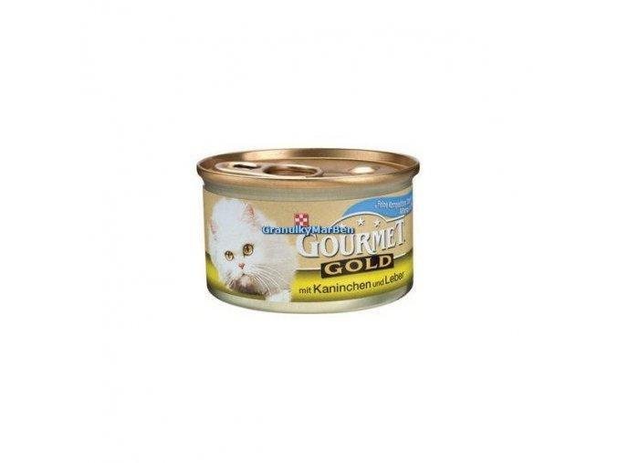 Gourmet Gold Králík a játra 85g