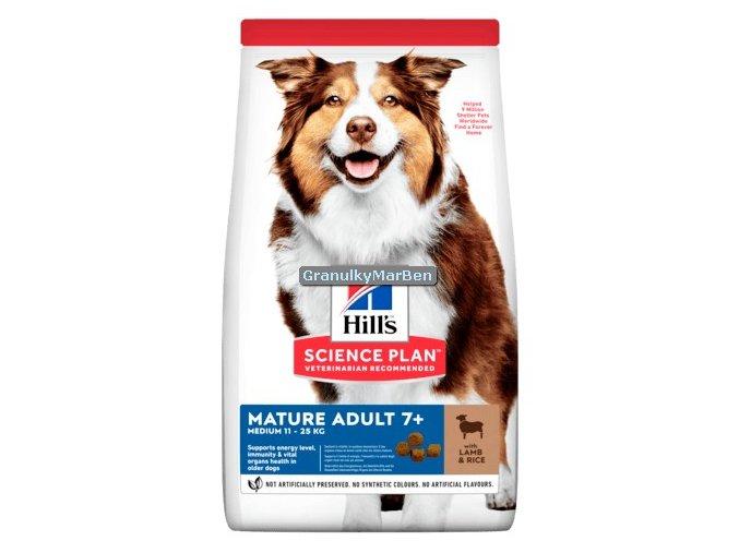Hills sp canine adult 7 medium mature lamb