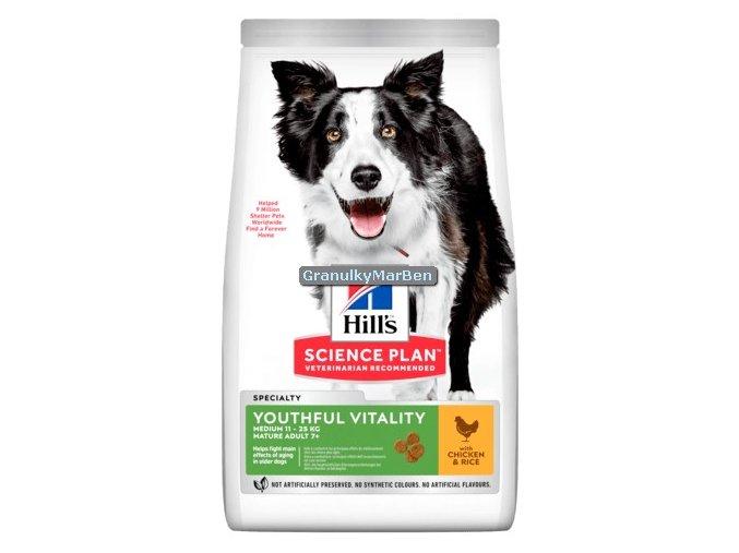 Hills sp canine adult 7 medium youhtful vitality mature chicken