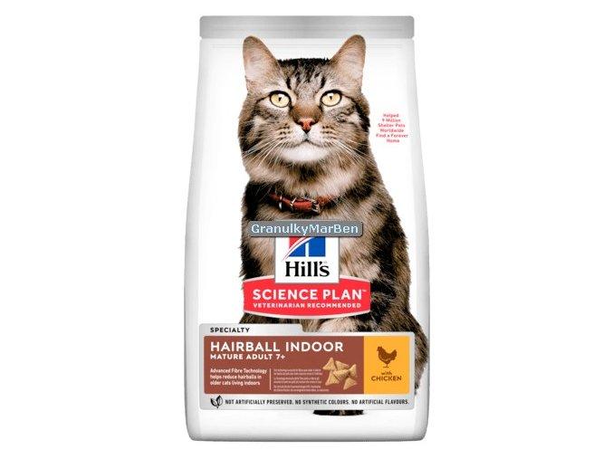 hills feline adult 7 hairball indoor chicken
