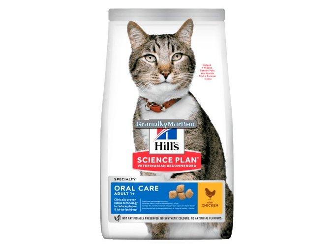 hills feline adult oral care chicken