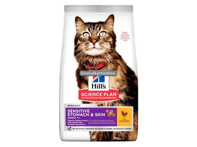 hills feline adult sensitive stomach skin chicken