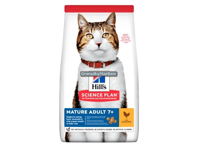 hills feline mature adult 7 chicken