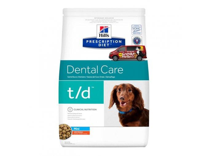Hills canine diet td mini