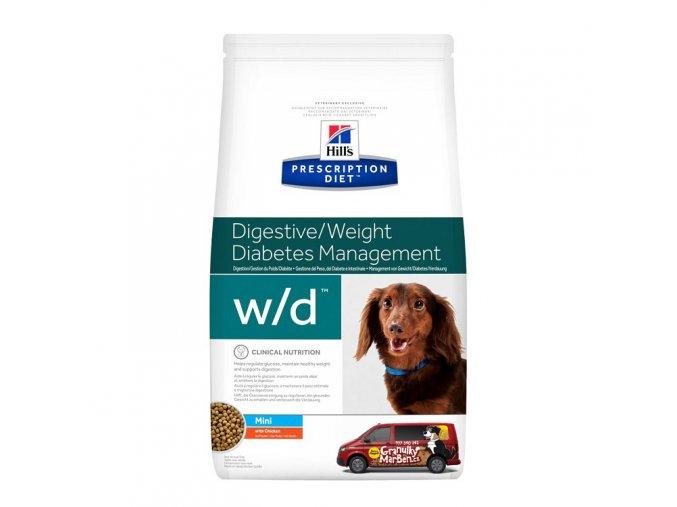 Hills canine diet wd mini