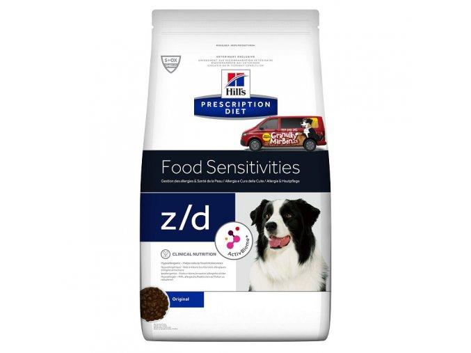 Hills canine diet zd