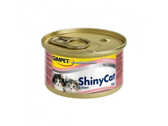 Konzervy ShinyCat Kitten Kuře 2x70g