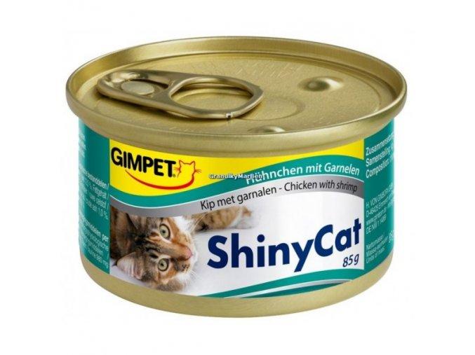 Konzervy ShinyCat Kuře a krevety 2x70g