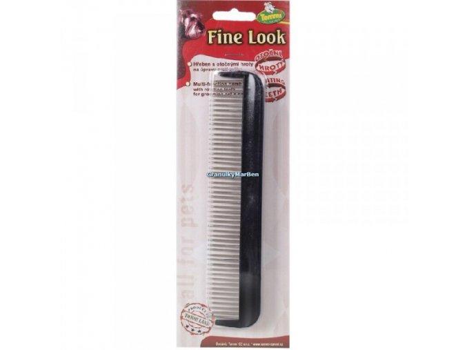 Hřeben Fine Look otočné zuby 18cm