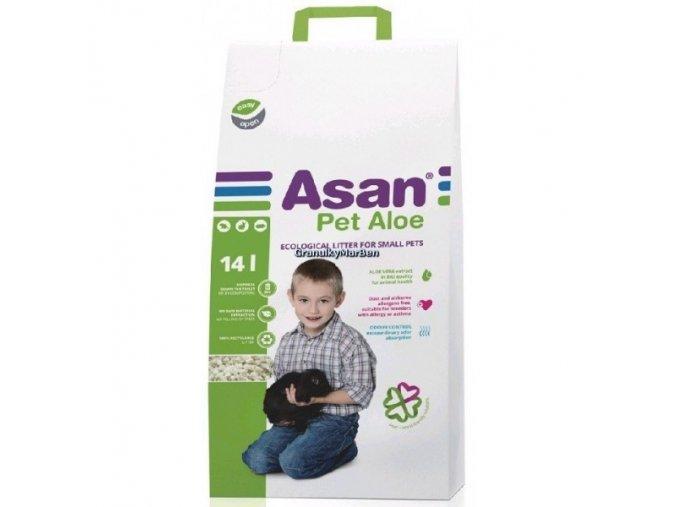 Asan Pet Aloe Podestýlka pro hlodavce a králíky