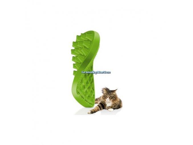 PET and ME Kartáč pro dlouhosrsté kočky  - zelený