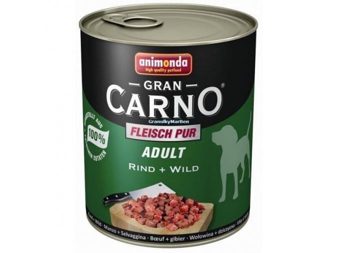 Konzerva Animonda Gran Carno Adult Hovězí a zvěřina 800g
