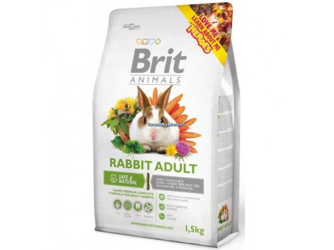 Brit Animals Rabbit Adult Complete (Králík) 1,5kg