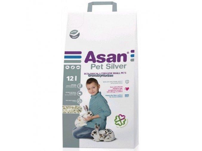 Asan Pet Silver Podestýlka pro hlodavce a králíky
