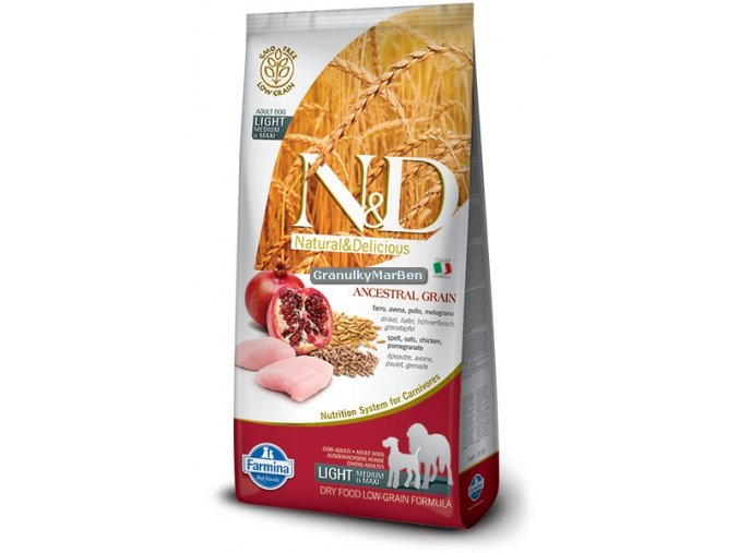 ND Low Ancestral Grain canine Adult LIGHT Medium Maxi CHICKEN