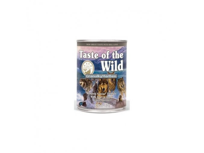 Konzerva Taste of the Wild Wetlands Wild Fowl 390g