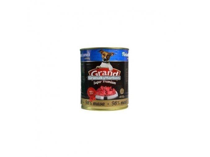 Grand konzerva Superpremium pes Směs droby 405g