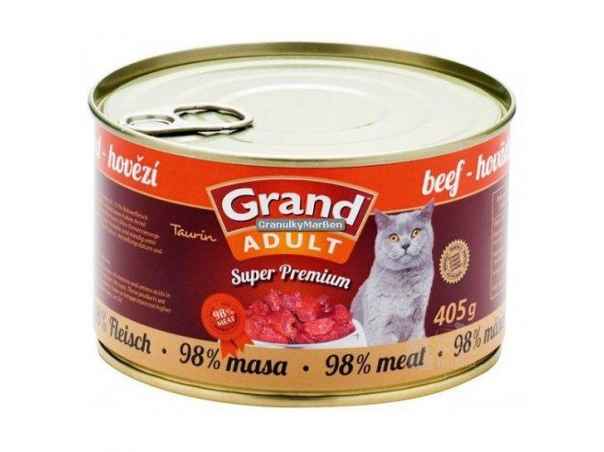 Grand konzerva Superpremium kočka Hovězí 405g