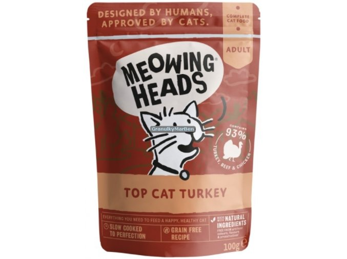 kapsicka Meowing Heads Top Cat Turkey