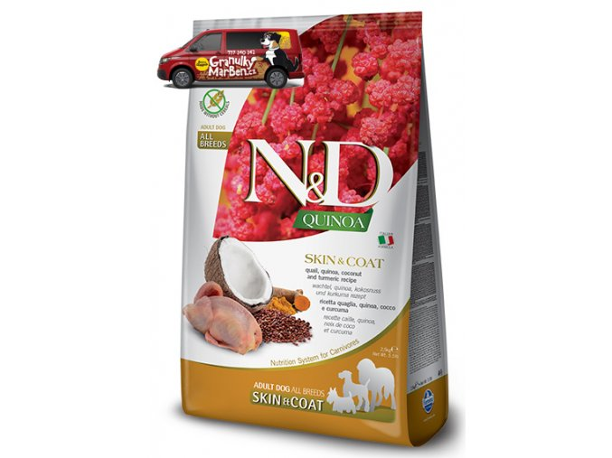 ND Grain Free DOG Quinoa Skin and Coat Quail