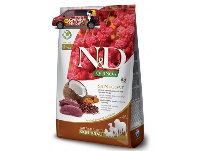 nd quinoa adult skin coat venison