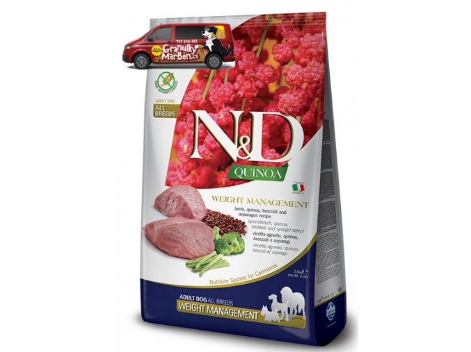 ND Grain Free DOG Quinoa Weight Lamb